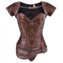 Brocade Steel Boned Gothic Steampunk Corset