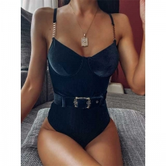 Ribbed Bodysuit Swimsuit