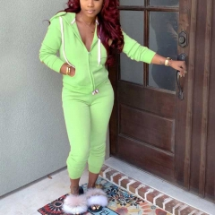Zipper Pockets Two Piece Tracksuit Set