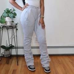 High Waisted Stacked Jogger Pants